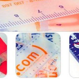 Reglas plásticas pvc glasspack personalizadas, con formas especiales
